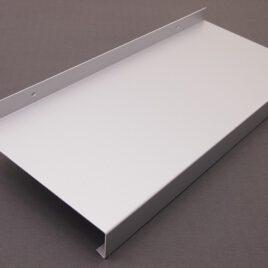 Alumínium extrudált ablakpárkány 2 mm-es, fehér
